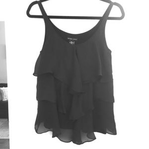 New York & Co. Black ruffled tank top Size XS